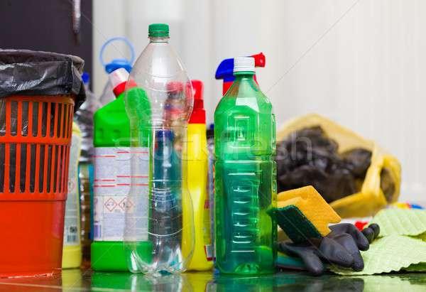 Gezonde milieu prullenbak nuttig Stockfoto © barabasa