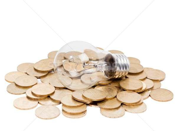 Elektromosság fogyasztás kép klasszikus villanykörte erő Stock fotó © barabasa