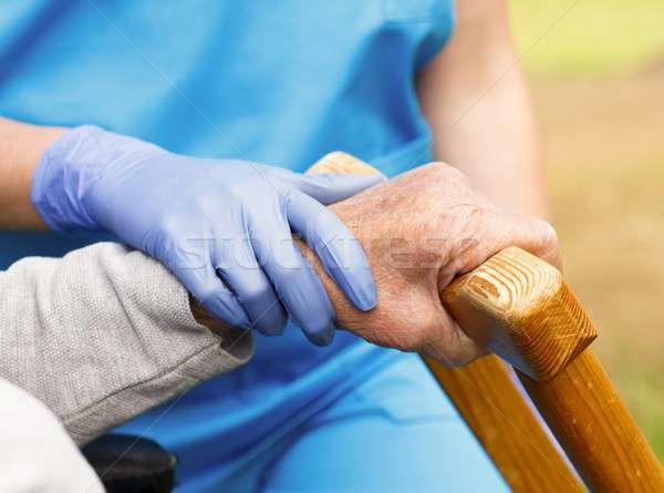 Care for Elderly Stock photo © barabasa