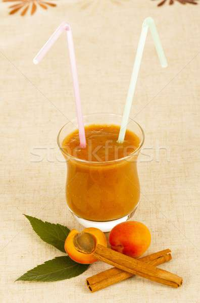 Summer Drink - Peach Shake Stock photo © barabasa