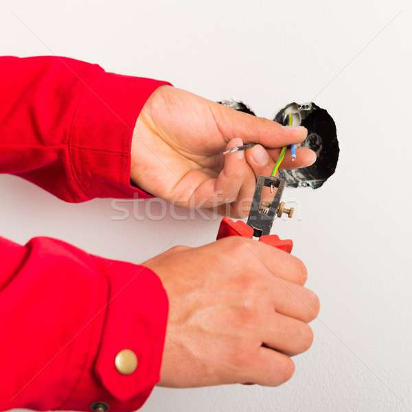 Draden handen werk werknemer tool Stockfoto © barabasa