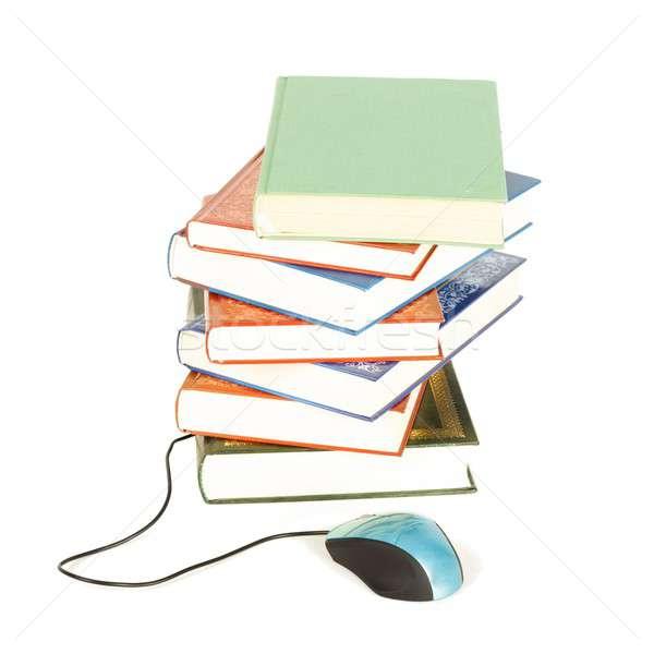 Internet eğitim görüntü modern kitap dünya Stok fotoğraf © barabasa
