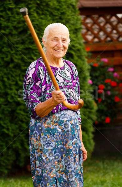 Threatening Granny Stock photo © barabasa
