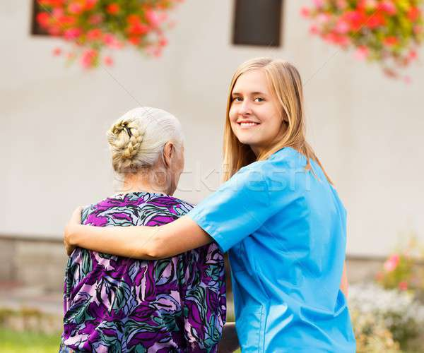 Professional Elderly Care Stock photo © barabasa