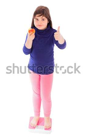 Thumbs Up For Weight Loss Stock photo © barabasa