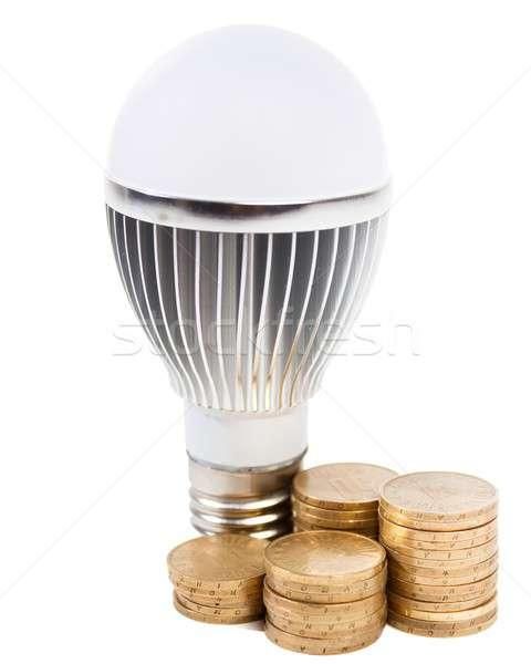 Zuinig verlichting nieuwe technologie lamp echt Stockfoto © barabasa