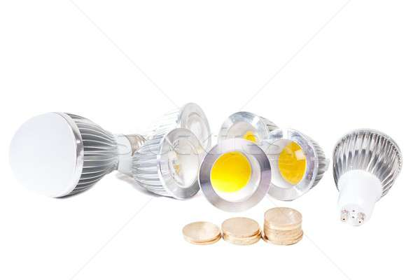 Zuinig lichten elektriciteit spaargeld ouderwets licht Stockfoto © barabasa
