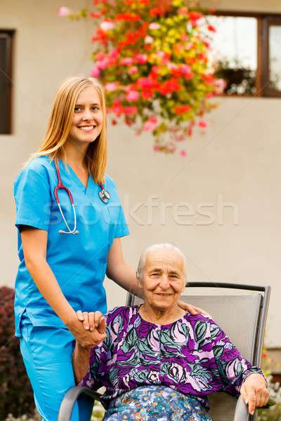 Life at the Nursing Home Stock photo © barabasa