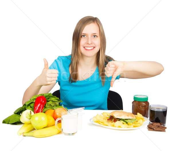 Keuze mooie glimlachende vrouw lifestyle Stockfoto © barabasa