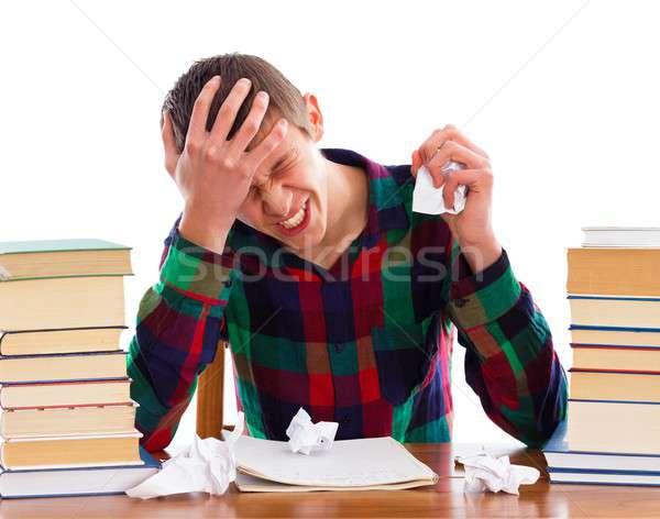 Amanhã prazo de entrega estressante estudante fora tempo Foto stock © barabasa