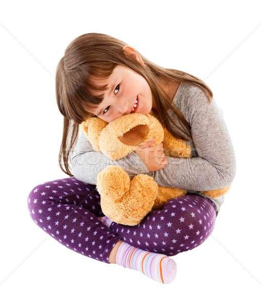 Liefde mijn teddy weinig Stockfoto © barabasa