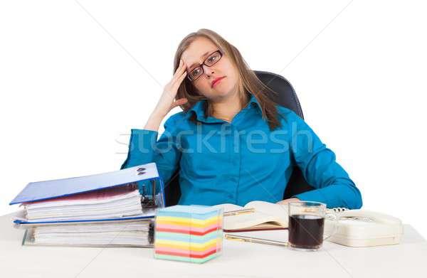 Elveszett munka fiatal üzletasszony üzlet nő Stock fotó © barabasa