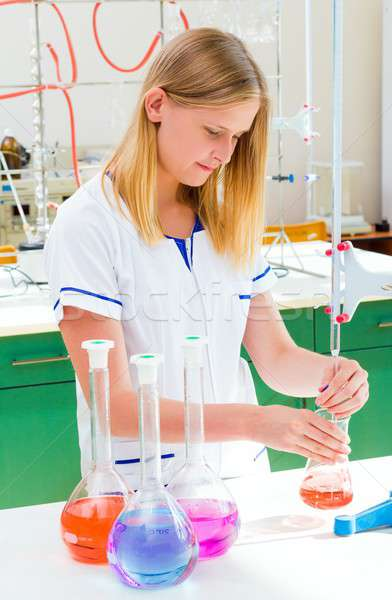 Scientific Experiments On New Substances Stock photo © barabasa