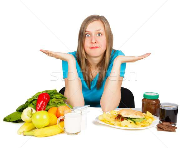продовольствие контраст женщину два Сток-фото © barabasa