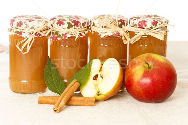 Apple Jams With Cinnamon Stock photo © barabasa