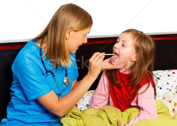 Throat Examination Stock photo © barabasa