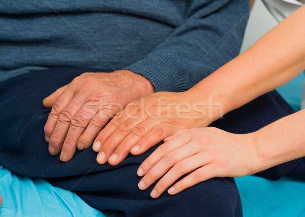 Caring Hands Stock photo © barabasa