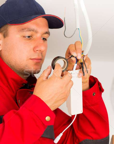 Precise Electrical Installation Stock photo © barabasa