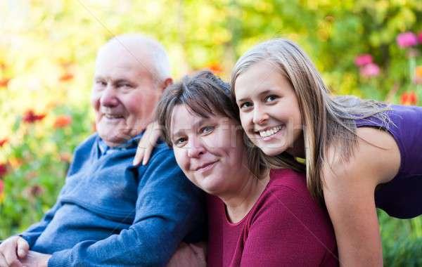 Three generations Stock photo © barabasa
