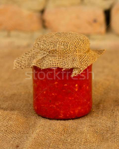 Hagyományos román főtt zöldségek fal üveg Stock fotó © barabasa