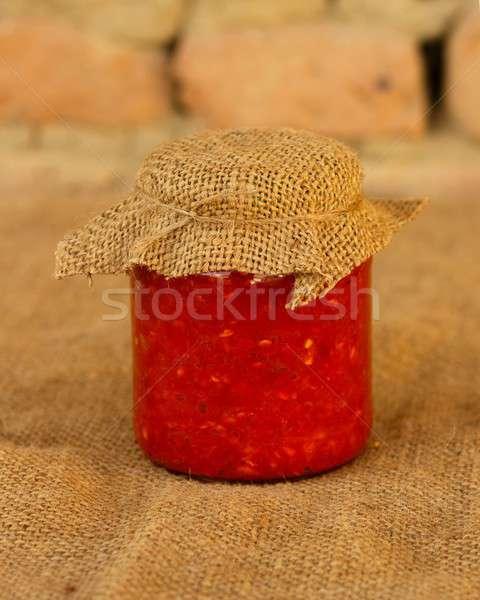 Traditioneel roemeense gekookt groenten muur glas Stockfoto © barabasa
