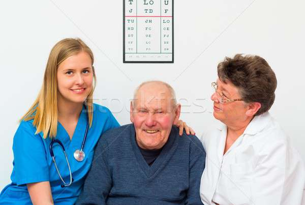Happy Elderly Man Stock photo © barabasa