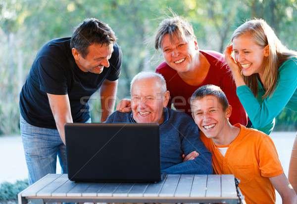 Having fun together Stock photo © barabasa