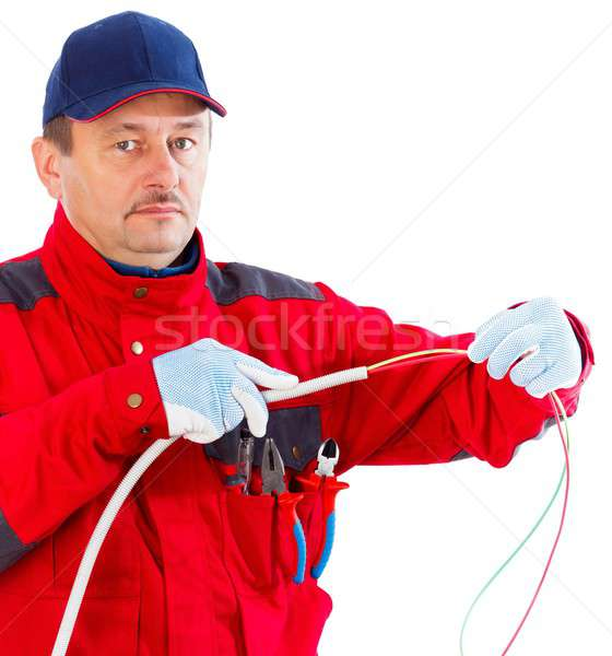 Plugging cable in tube Stock photo © barabasa