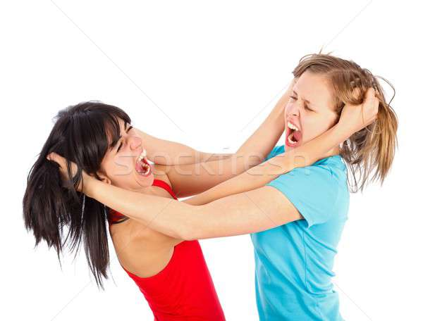 Girl fight Stock photo © barabasa