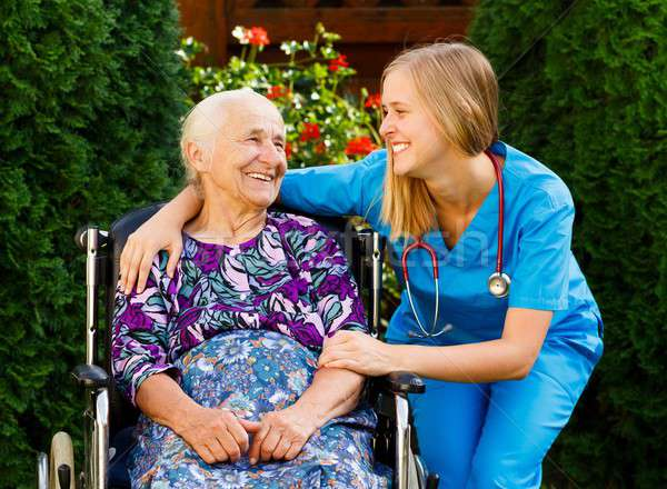 Elderly Home Care Stock photo © barabasa