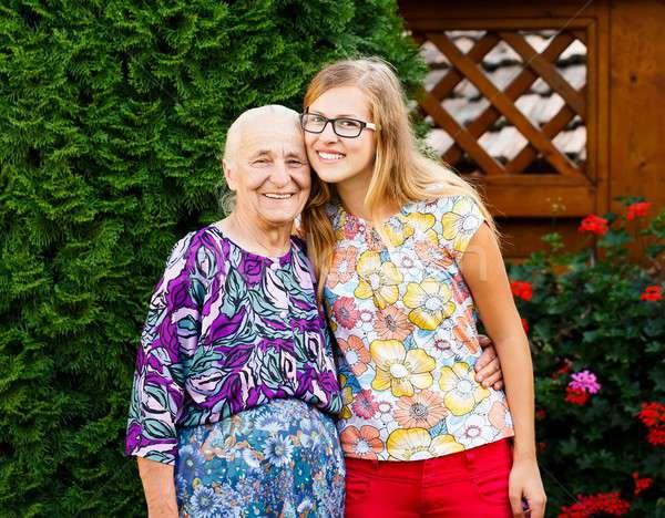 My Lovely Grandmother! Stock photo © barabasa