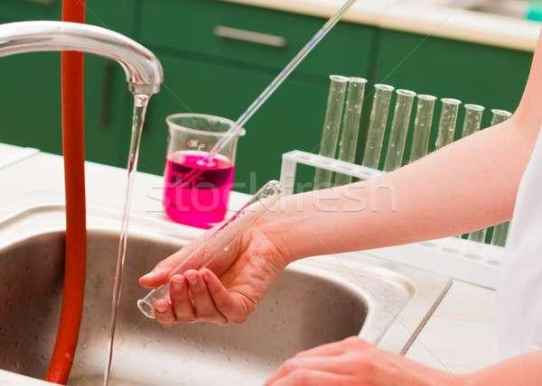 Washing chemical material  Stock photo © barabasa