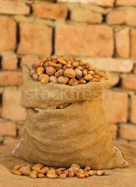 Tohumları tok badem Stok fotoğraf © barabasa