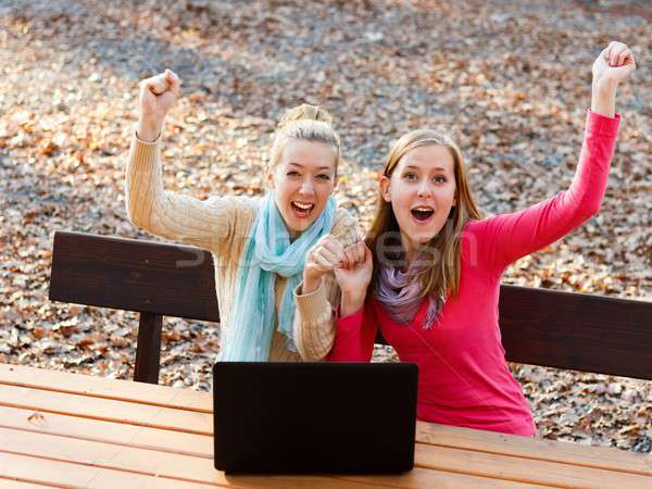 Successful young women Stock photo © barabasa