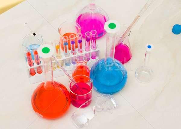 Amusing chemical analysis Stock photo © barabasa