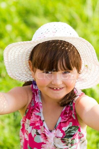 Little Cutie Having Fun in Summer Nature Stock photo © barabasa