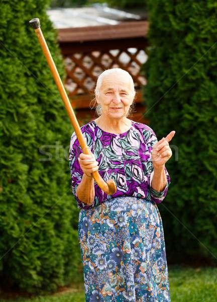 Threatening Grandma Stock photo © barabasa