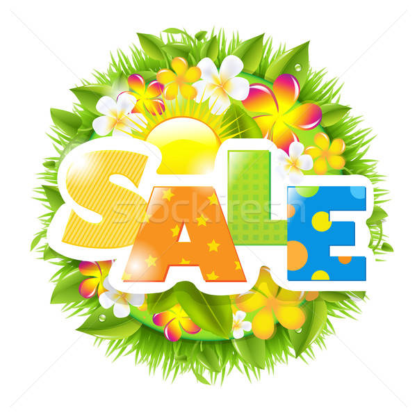 Summer And Spring Sale Template Stock photo © barbaliss