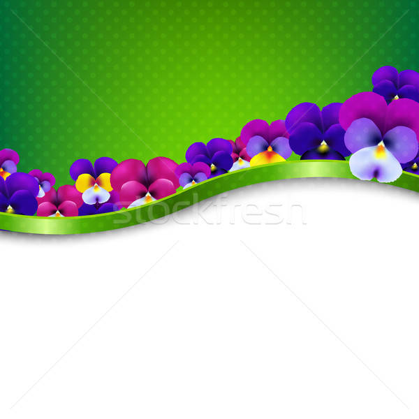 Congratulations Card Flowers Pansies Stock photo © barbaliss