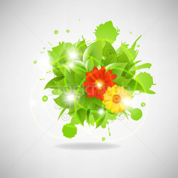 Abstrato Flores Estrelas Margarida Fundo Imprimir