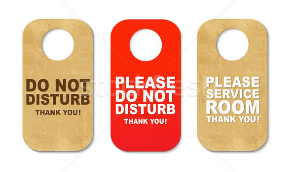 Do Not Disturb Sign Set Stock photo © barbaliss