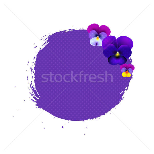 Blob With Pansies Stock photo © barbaliss