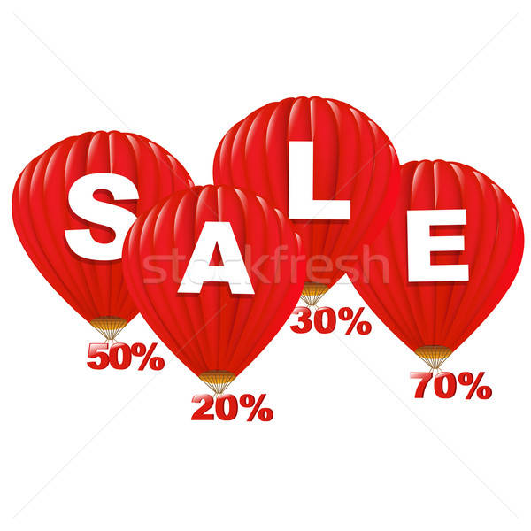 Sale Red Hot Air Balloons Stock photo © barbaliss