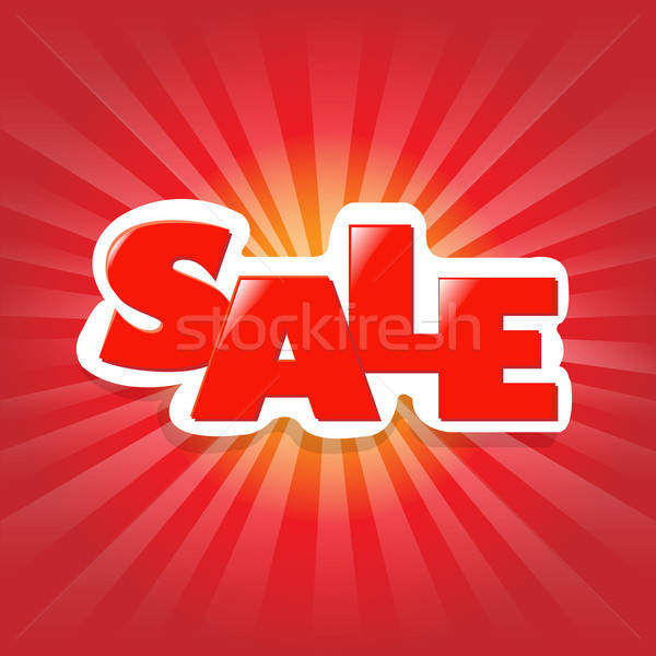 Rojo anunciante venta publicidad banner diseno Foto stock © barbaliss