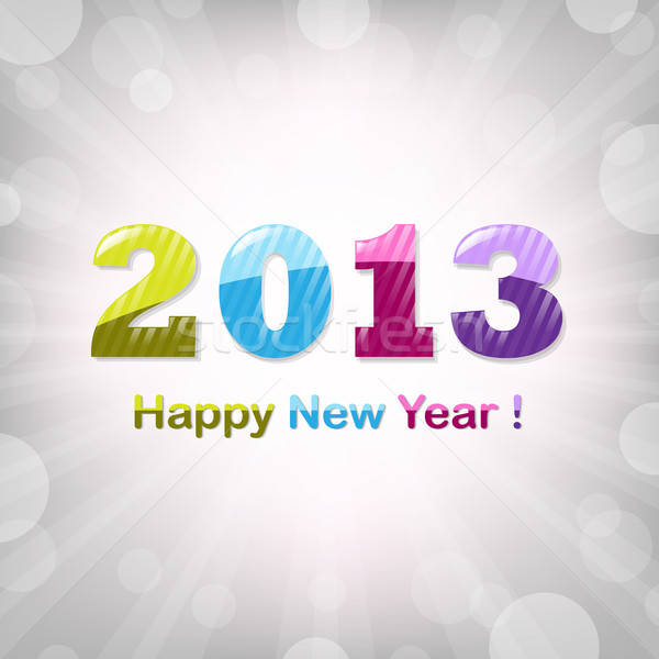 Happy New Year Illustrations Stock photo © barbaliss