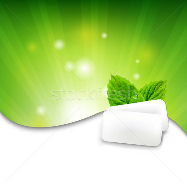 Green Wall With Mint Gum Stock photo © barbaliss