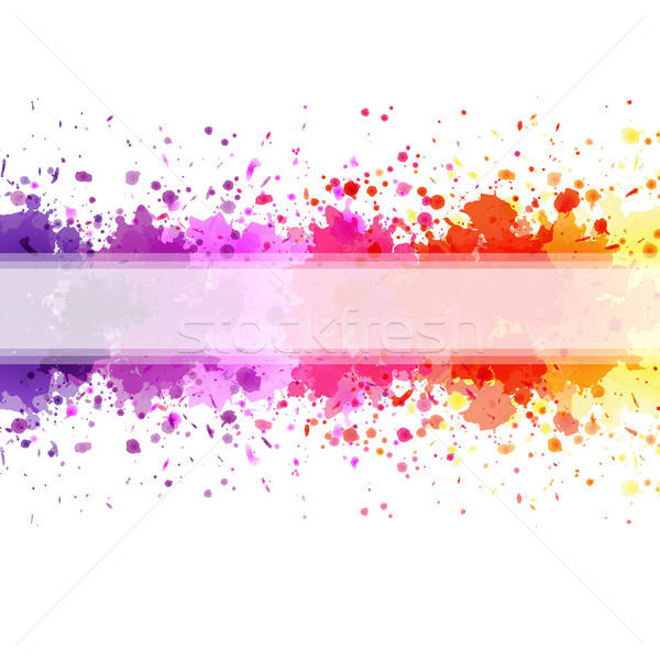 Color Blot Background Stock photo © barbaliss