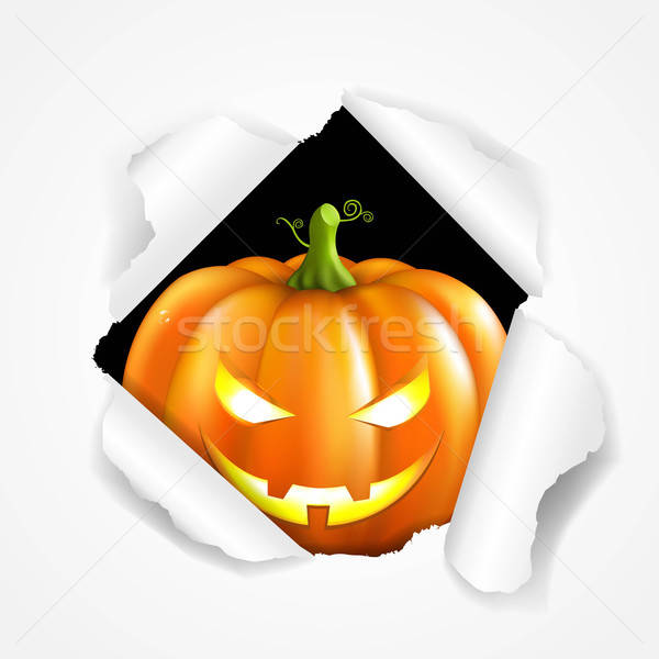 Heureux halloween affiche gradient sourire Photo stock © barbaliss
