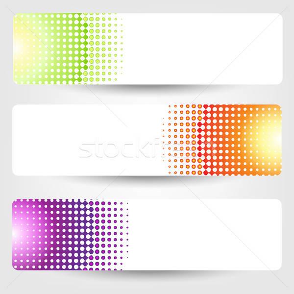 Abstrakten Banner Set isoliert grau Hintergrund Stock foto © barbaliss