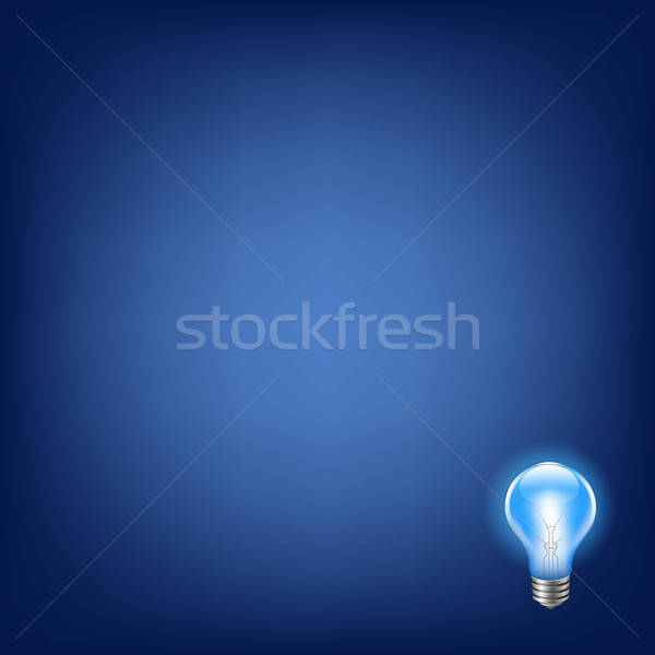 Blue Bulb With Background Stock photo © barbaliss